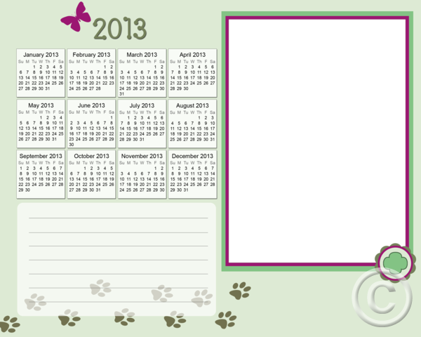 Rpl school girlscouts 8x10 markerboard calendar 2013 png for Girl scout calendar template