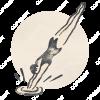 Vintage_Emblem_Swimming