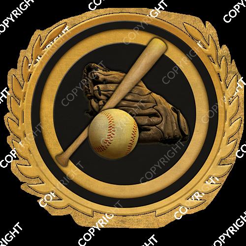 Emblem_Gold_Black_baseball