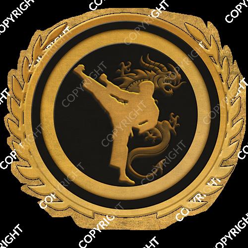 Emblem_Gold_Black_martial_arts