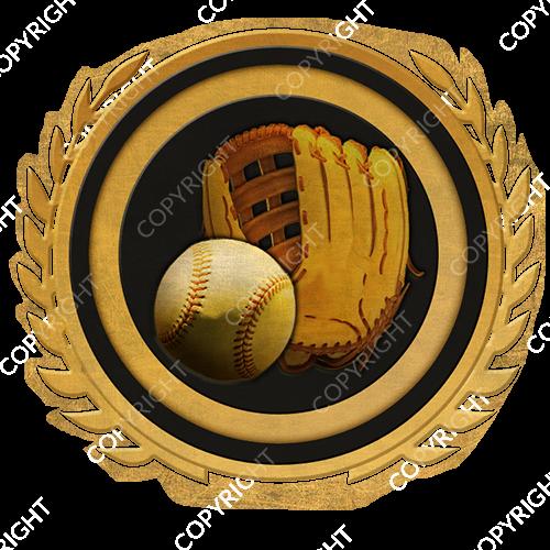 Emblem_Gold_Black_softball