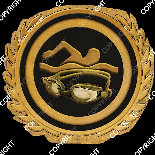 Emblem_Gold_Black_swimming