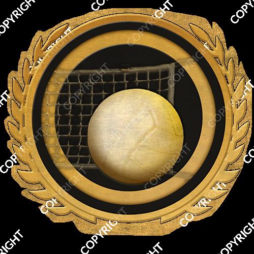 Emblem_Gold_Black_volleyball