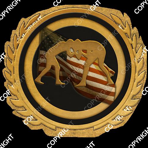 Emblem_Gold_Black_wrestling