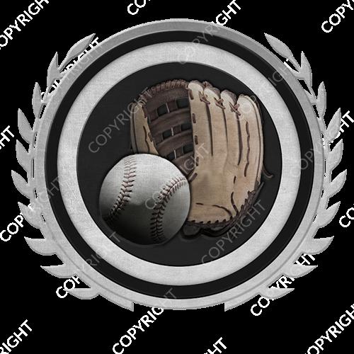 Emblem_Silver_Black_softball