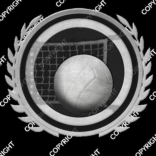 Emblem_Silver_Black_volleyball