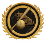 Emblem_Gold_Black_baseball