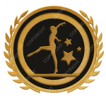 Emblem_Gold_Black_gymnastics