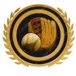 Emblem_Gold_Black_softball