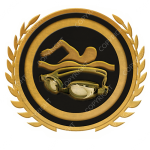 Emblem_Gold_Black_swimming